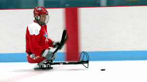 Sledge Hockey: Ice Sledge Hockey Player Shane Parsons